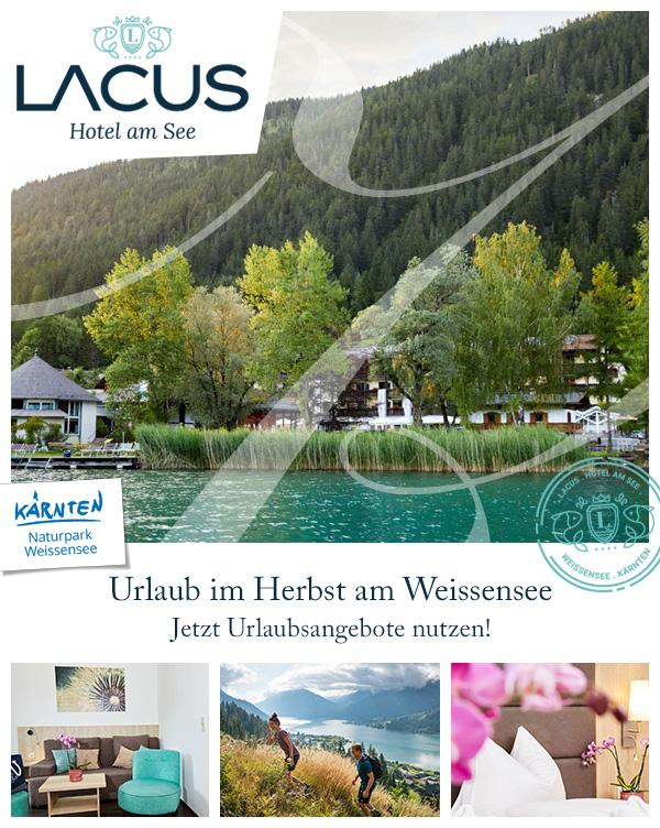 LACUS - Family-Hotel Herbst Urlaub Weissensee Kärnten